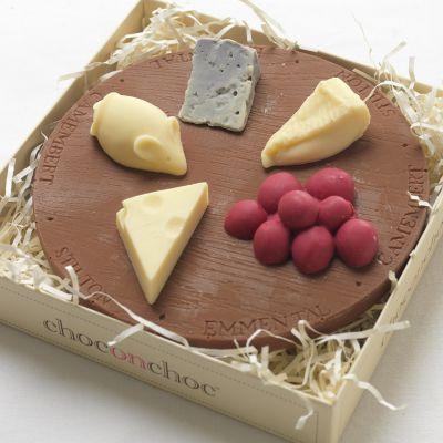 Sødt - Osteplatte af Chokolade