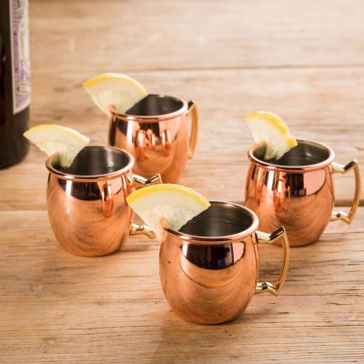 Kopper og glas - Moscow Mule Shotglas sæt af 4