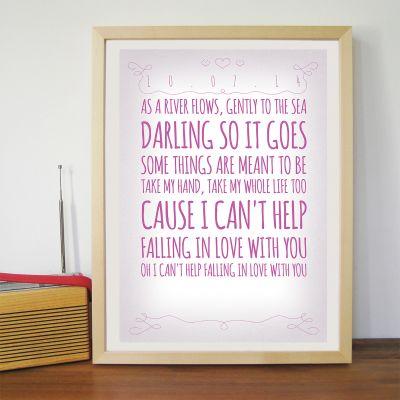 Bryllupsdagsgave - Romantisk - Personlig Plakat