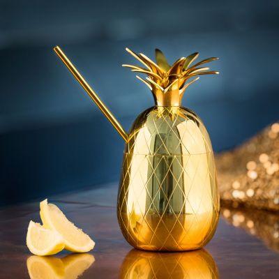 Romantiske gaver - Ananas cocktailglas i metal