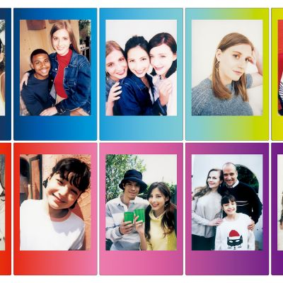 Gaver til hende - Fuji Instax film med farvede rammer