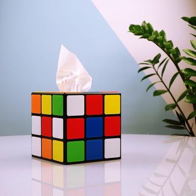 Gaver til par - Rubiks Terning a la lommetørklædeboks som set i Big Bang Theory