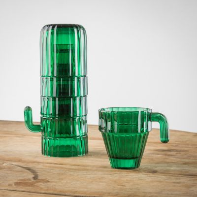 Kopper og glas - Kæmpekaktus glassæt
