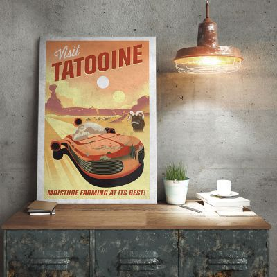 Film & serier - Star Wars Metal plakat- Tatooine