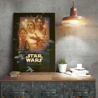 Plakat - Star Wars Metalplakat - Et Nyt Håb