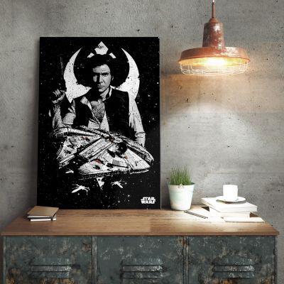 Gave til far - Star Wars Metalplakat - Captain Han Solo