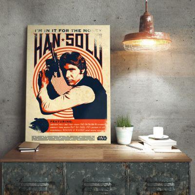 Plakat - Star Wars Metalplakat - Han Solo Retro