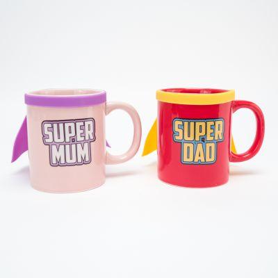 Kopper og glas - Super Mum & Super Dad Krus