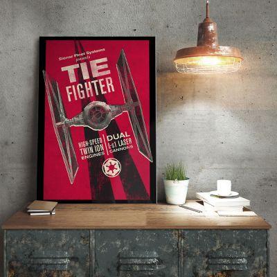 Plakat - Star Wars Metal plakat - Tie Fighter