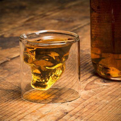 Kopper og glas - Shotglas med dødningehoved