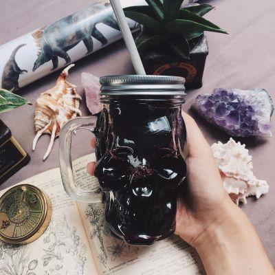 Kopper og glas - Dødningehoved cocktailglas