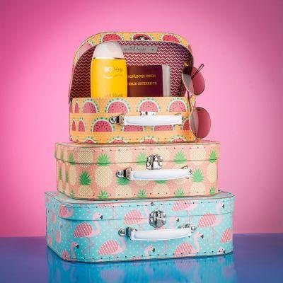 Retro ting - Tropisk kuffertsæt