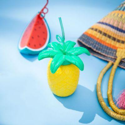 Gaver til børn - Krus - Tropiske frugter med sugerør