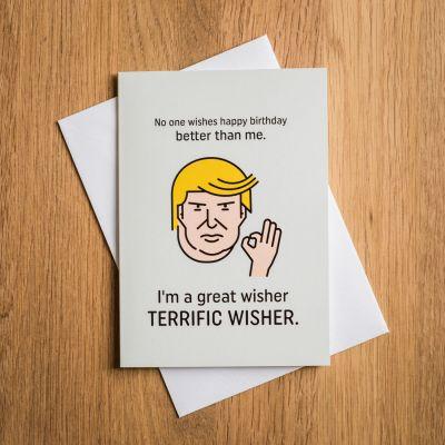 Gave til en pigeven - Terrific Trump fødselsdagskort