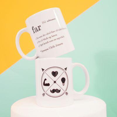 Kopper og glas - Far - Personaliseret Krus