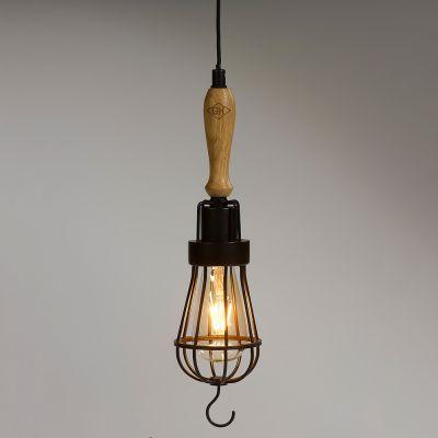 Belysning - Vintage arbejdslampe med LED
