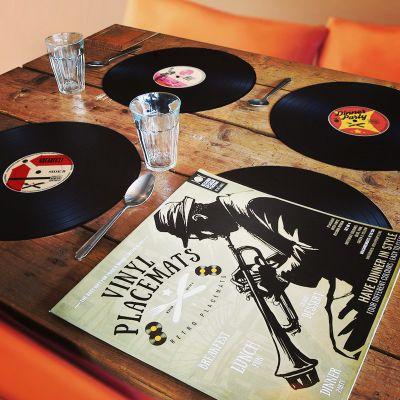 Retro ting - 4x Vinyl Dækkeservietter