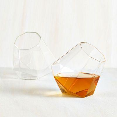 Kopper og glas - Diamant Whisky Glas