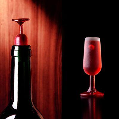 Barudstyr - Flaskeprop som vinglas - Sæt med 2
