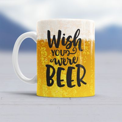 50 års fødselsdagsgave - Wish You Were Beer krus