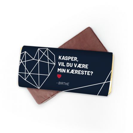 Personaliseret Chokolade med tekst
