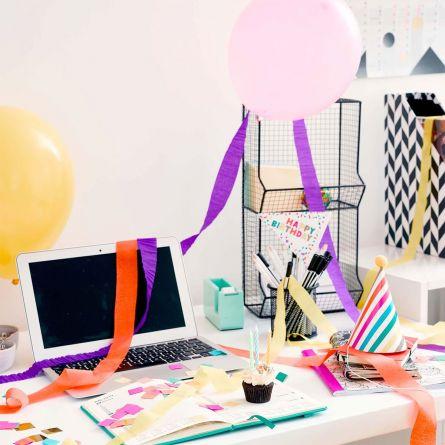 Fødselsdagsboks til kontoret