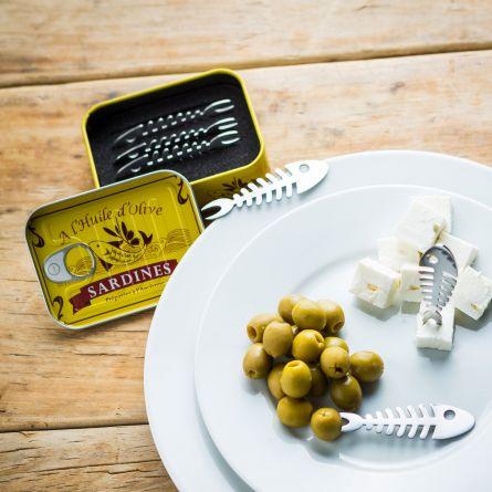 Sardin-snack-pinde - Sæt med 6
