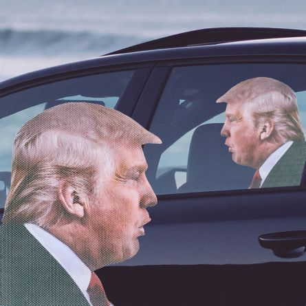 Bil klistermærke Trump