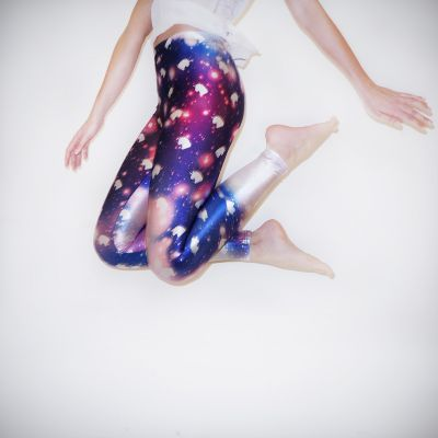 Galaxy Enhjørninge Leggings