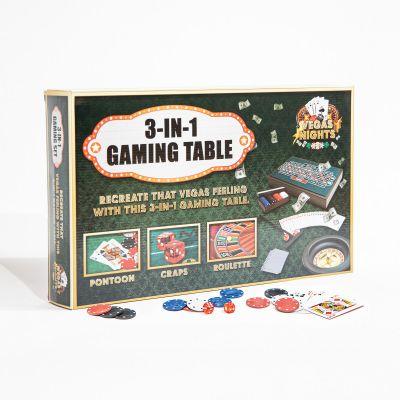 Drikke og Partyspil - Vegas Nights 3 i 1 mini spillebord