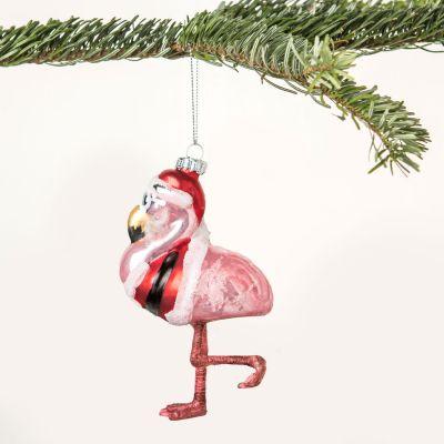 Juledekoration - Hr. Flamingo juletræsudsmykning