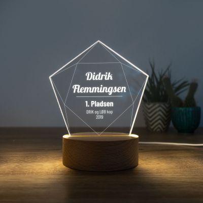 Indgravering gaver - LED-lampe som stjerne