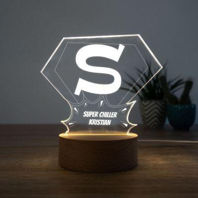 Indgravering gaver - LED-lampe Superman
