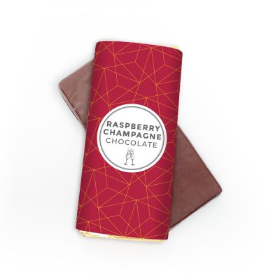 Champagne-hindbær chokolade klassisk