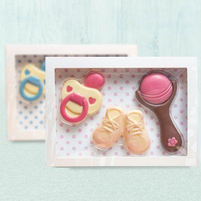 Gaver til babyer - Chokolade babysæt