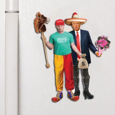Nyt - Trump & Putin Udklædnings-magneter