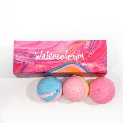 Valentinsgaver - Badekugler med vandfarver - sæt med 3