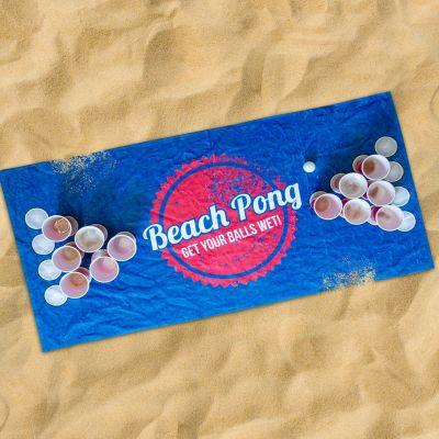 Udendørs - Beach Pong Håndklæde