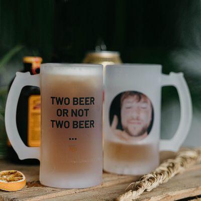 Gaveideer - Personaliseret ølkrus med foto og tekst