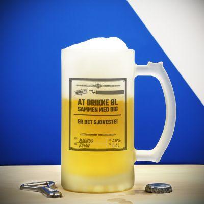 Ekslusive kopper og glas - Personlig Ølkrus