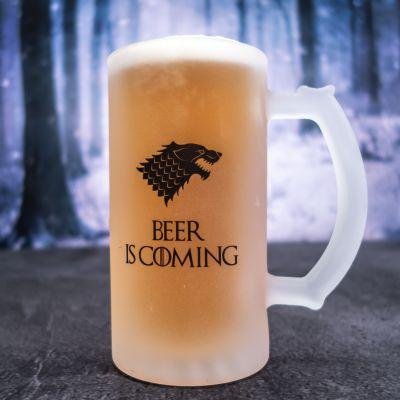 Fødselsdagsgave til ham - Personaliseret ølkrus med ulv