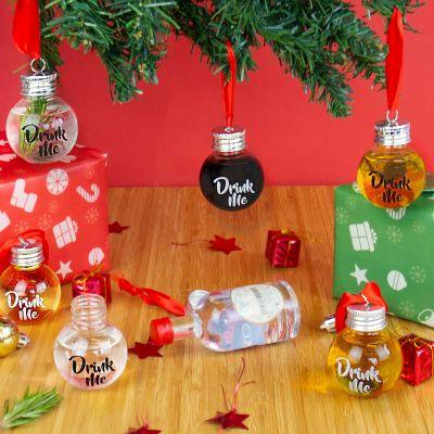 Juledekoration - Juletræskugler med likør
