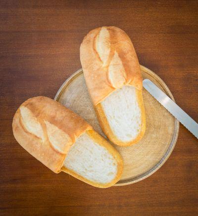 Hjemmesko - Hvidt brød tøfler
