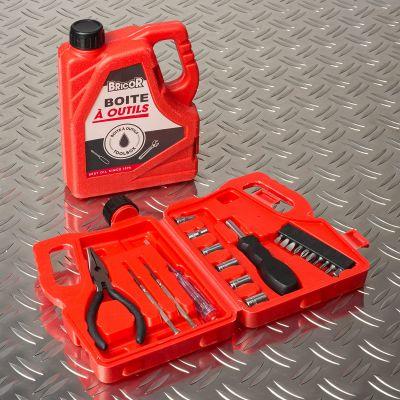 Cool redskaber - Mini værktøjssæt i oliebeholder