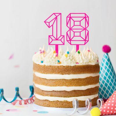 50 års fødselsdagsgave - Kagepynt i talformat