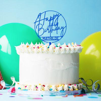 18 års fødselsdagsgave - Personaliseret Cake Topper til fødselsdagen
