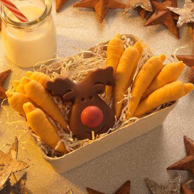 Sødt - Rensdyr og Gulerødder af Chokolade
