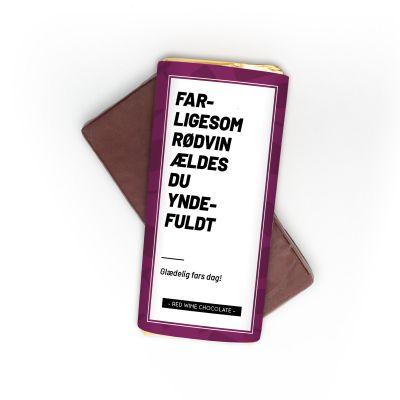 Personaliseret rødvinschokolade