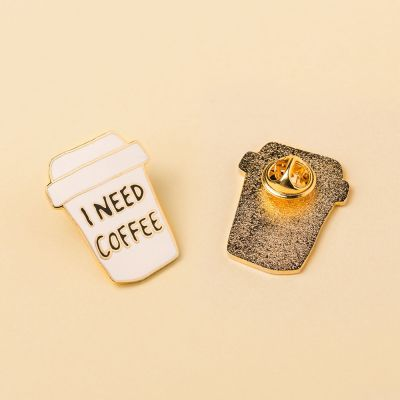 Smykker - I Need Coffee-krus pin