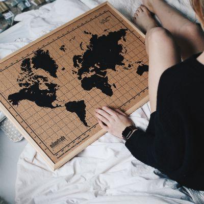 50 års fødselsdagsgave - Kork verdenskort